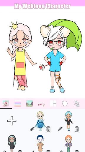 My Webtoon Character - K-pop IDOL avatar maker 2.6.0 screenshots 3