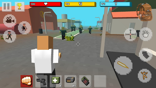 Zombie Craft Survival 3D: Free Shooting Game apkpoly screenshots 9