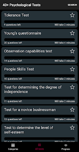 40+ Psychological Tests Screenshot