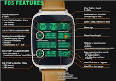 F05 WatchFace for Android Wearのおすすめ画像1