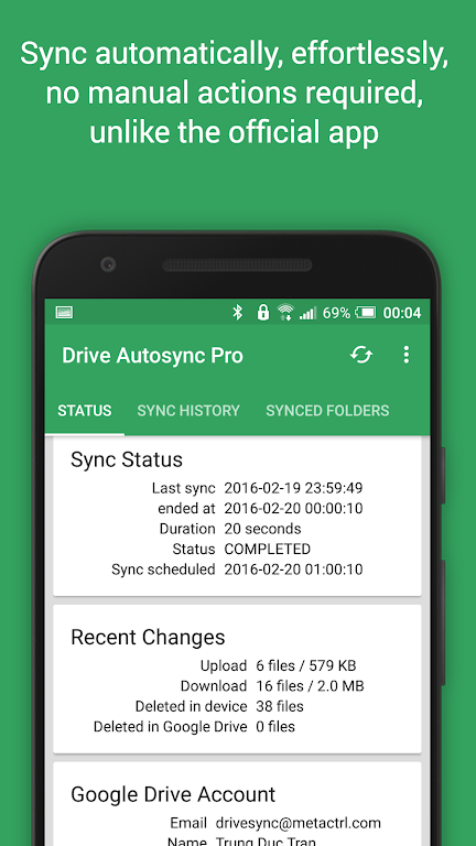 Autosync for Google Drive  poster 1