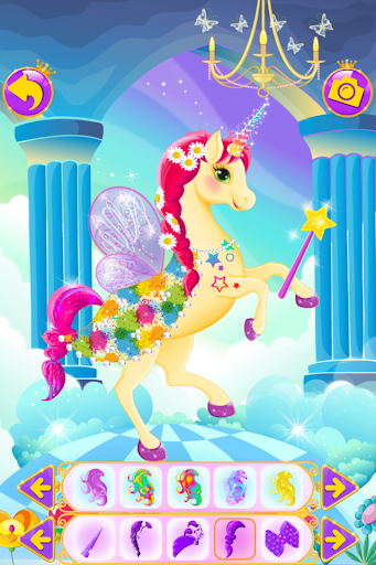 Unicorn Dress Up - Girls Games apkslow screenshots 4