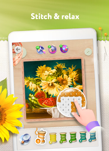 Magic Cross Stitch: Color Pixel Art 2.9.1 screenshots 8