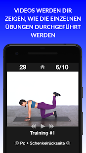 Tägliche Trainings - Fitness & Workouts Trainer Screenshot