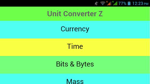 Unit Converter Z 1.1 screenshots 10