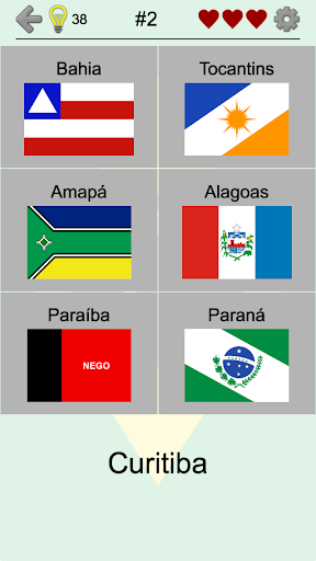 Brazilian States - Quiz about Flags and Capitals For PC Windows (7, 8, 10, 10X) & Mac Computer Image Number- 6