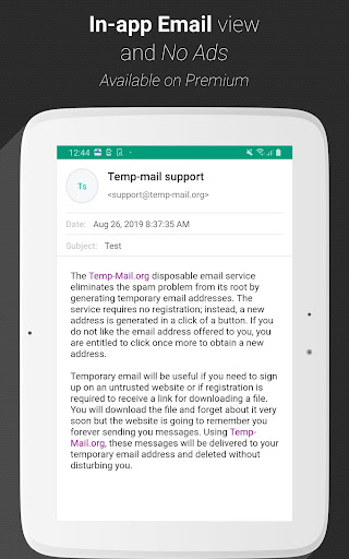Temp Mail - Free Instant Temporary Email Address 2.41 Screenshots 8