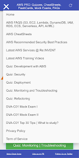 AWS DEV PRO: FlashCards, CheatSheets, Quizzes, FAQ Screenshot