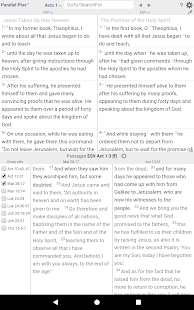 PARALLEL PLUS Bible with Heb/Greek helps, online Screenshot