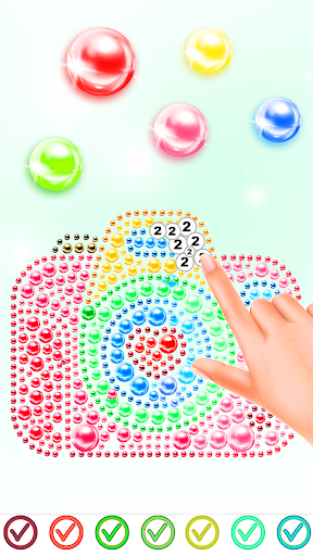Magnetic Balls Color By Number - Magnet Bubbles android2mod screenshots 2