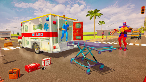 Police Speed Hero Robot Superhero Rescue Mission  screenshots 2