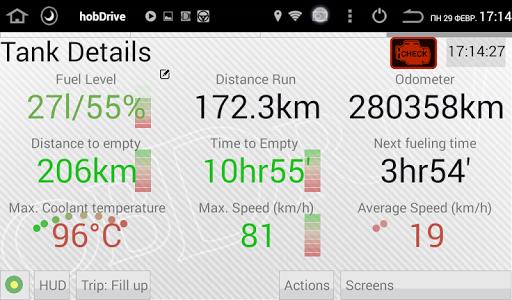 HobDrive OBD2 ELM327, car diagnostics, trip comp 1.6.12 Screenshots 13