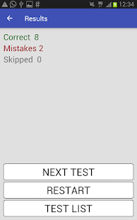 5555 English Grammar Tests Screenshot