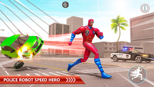 Police Robot Rope Hero Game 3d android2mod screenshots 7