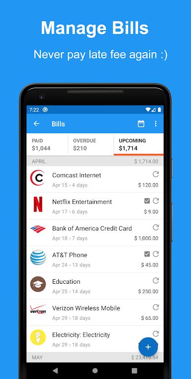 Money Manager App, Budget, Expense tracker & Bills  poster 1