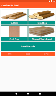 Calculator For Wood -Timber - Flush Door - Plywood