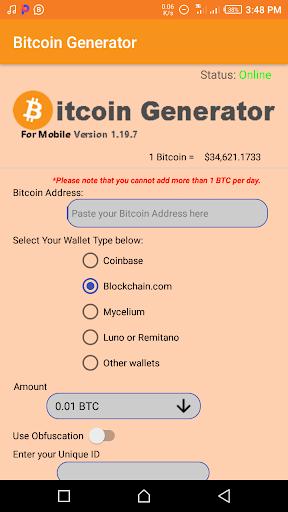 bitcoin generatore android apk scomparsa di bitcoin