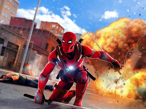 Superhero Ninja Battle: Streets Fighting Robot screenshots 4