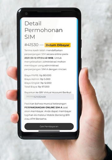 Perpanjangan SIM Online