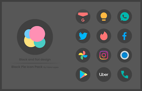 Black Pie APK- Icon Pack (PAID) Free Download Latest 4