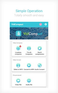 Video to MP3 Converter & Compressor - VidCompact Screenshot