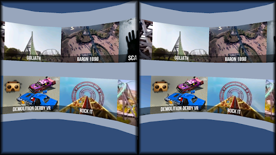 VR Thrills: Roller Coaster 360 (Cardboard Game) Screenshot