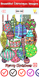 Christmas Color By Number Paint Dropper Puzzle Art