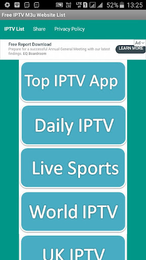 Foto do Free IPTV M3u Website List
