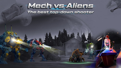 Mech vs Aliens: Top down shooter | RPG apktreat screenshots 1