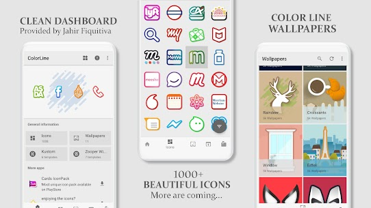Color Line Icon Pack – color lines on white icons v2.3 [Patched] 5