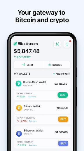 Bitcoin Wallet: buy BTC, BCH & ETH screenshots 1