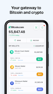 Bitcoin Wallet: buy BTC, BCH & ETH 7.0.7 screenshots 1