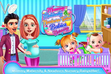 Mommy Maternity Newborn Twins Baby Nursery Game 🍼 1.0.26 Mod APK (Unlock All) 2
