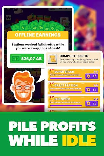 Idle Train Station Management : Money Clicker Inc. Apkfinish screenshots 5