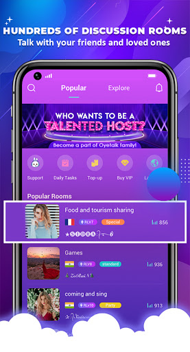 OyeTalk - Live Voice Chat Room android2mod screenshots 4