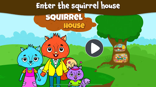 Animal Town - My Squirrel Home for Kids & Toddlers  Screenshots 15