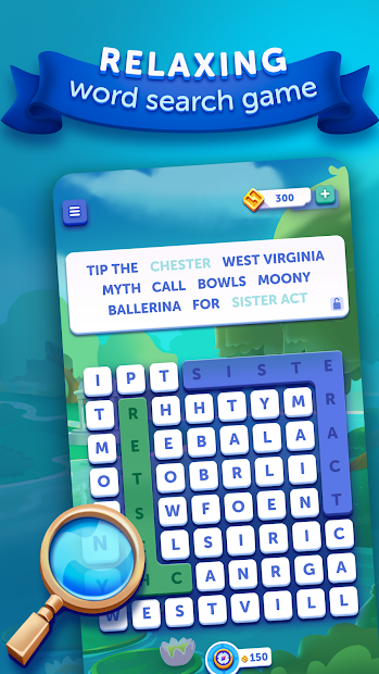 Word Lanes Search: Relaxing Word Search Android App Screenshot