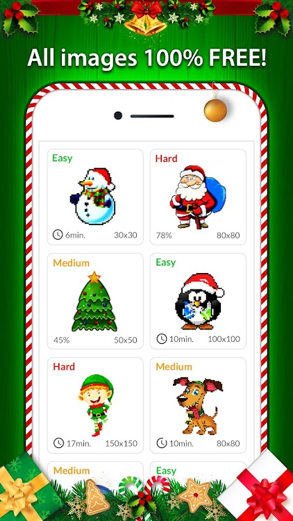 Christmas Pixel Art - Color By No. Coloring Pages - (Android Apps) — AppAgg