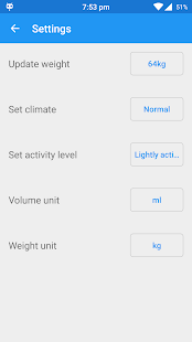 Drinking Water Reminder app