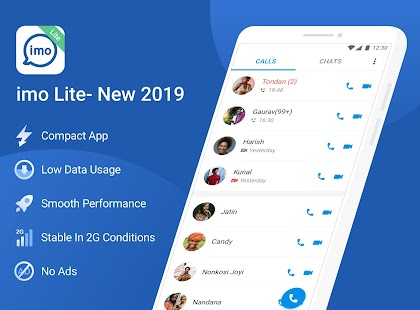 imo Lite - New2020 Superfast Free calls & just 4MB Screenshot
