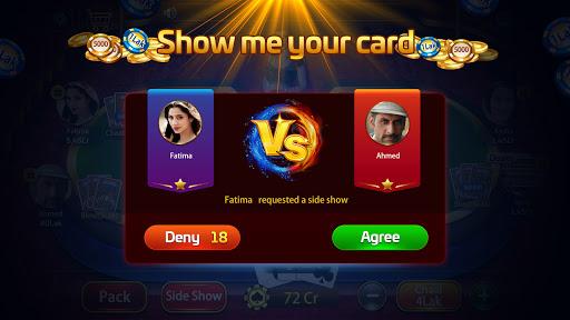 Taash Gold - Teen Patti Rung 3 Patti Poker Game 2.0.20 screenshots 4