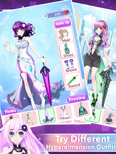 Anime Dress Up Queen Game for girls 0.1 screenshots 8