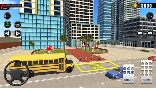 Offroad School Bus Driving: Flying Bus Games 2020 apkslow screenshots 13