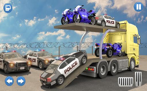 US Police Multi Level Car Transporter Truck 2021 apktram screenshots 5
