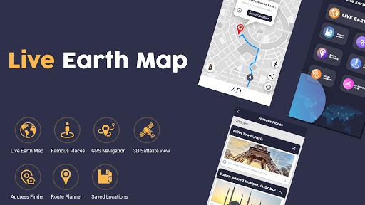 Live Earth Map Pro-Satellite View, World Map 3D  Screenshots 7
