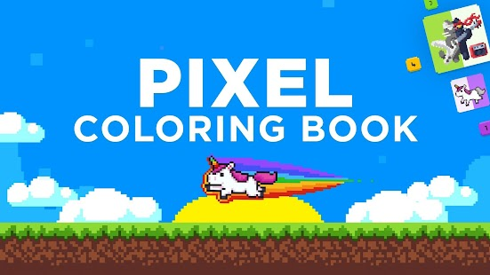UNICORN Color by Number | Pixel Art Coloring Games Screenshot