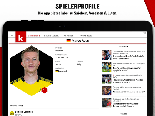 kicker Fußball News  screenshots 11