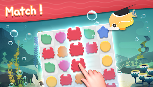 Aqua Friends : Match 3 Puzzle Game  screenshots 1