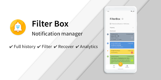 FilterBox - Pro Notification Manager Screenshot