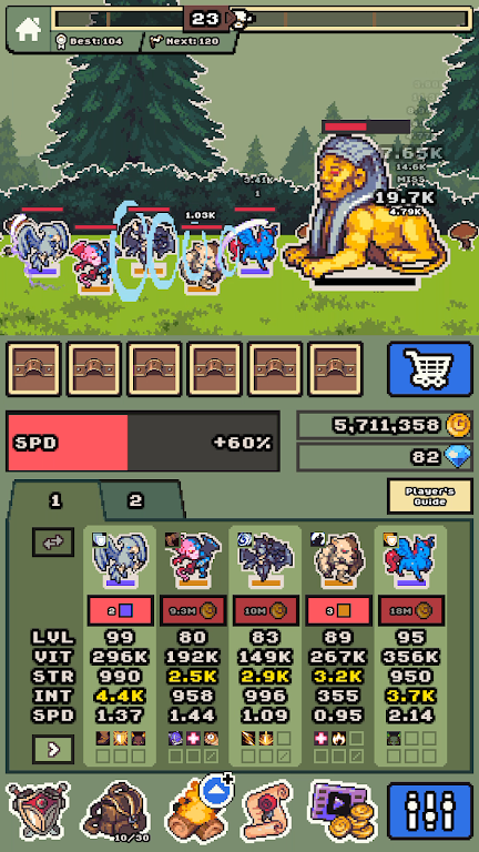 Idle Monster Frontier - team rpg collecting game  poster 5